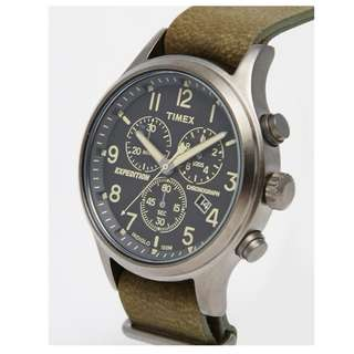 Timex Timex Expedition Scout Chronograph Watch In Green TW4B04100