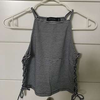 Glassons Stripe Crop Top