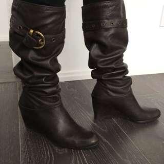 Stuart Weitzman Knee High Lamb Skin Leather Boots