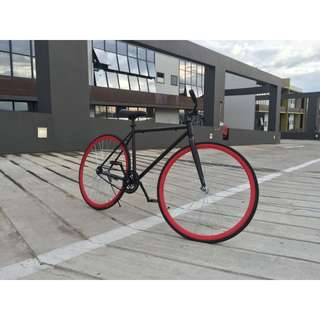 Simple Road Bicycle - Black, Fixie for daily commute