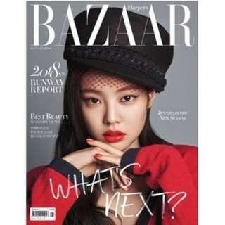[PREORDER] BAZAAR KOREA 2018-MAGAZINE - BLACKPINK JENNIE COVER