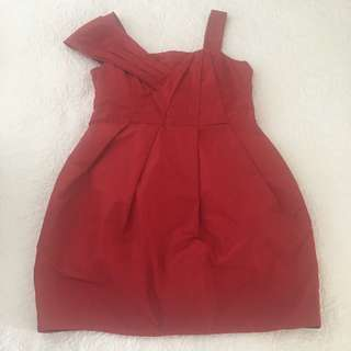 Red Cue Dress, Size 12, excellent condition