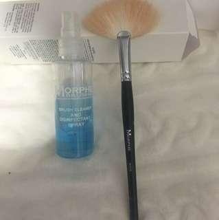Morphe Brush Cleaner + Fan Brush