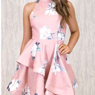 Ruffle Dress Pink Floral