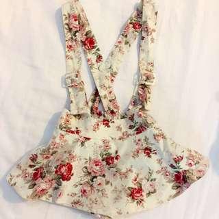 European Style Floral Short Dress Design