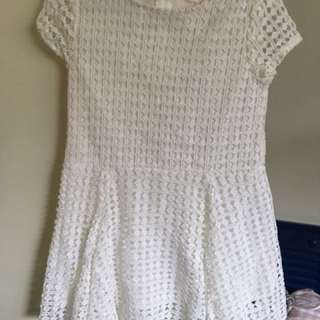 Country Road Girls white dress size 2 BNWOT