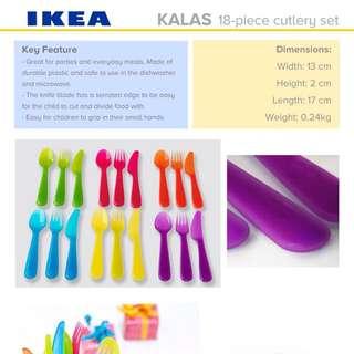 IKEA KALAS 18PCS CUTLERY