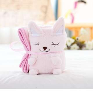 Pink Plush and strawberry blanket