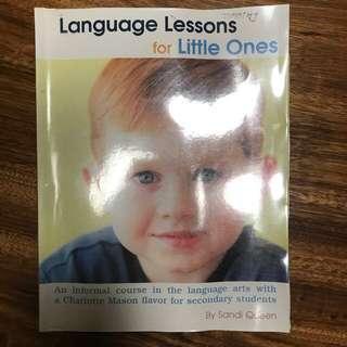 First language lessons (Charlotte Mason Homeschool)