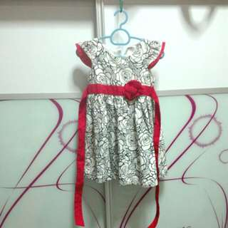 White red cotton dress