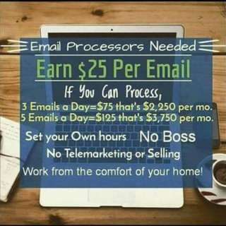 Work From Home Earn $100 - $250 or more everyday