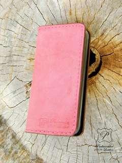 Iphone 5 5S 皮革手機套 手機殼 手作銀包 leather phone case cover handmade