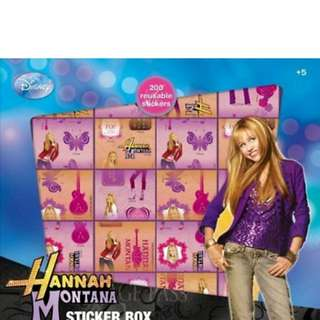 Free Hannah Montana Boxed Set 200 Reusable Stickers