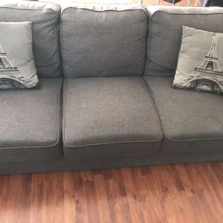 2 x 3 seater couches