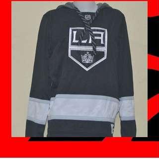 Reebok Black Jersey Pullover Hoodie Los Angeles Kings