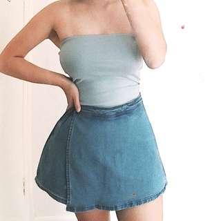 Denim skirt shorts