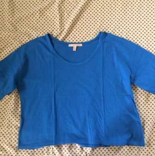 Zara Trafaluc TRF crop top blue
