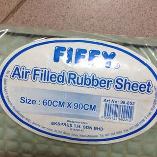 pee bed protector rubber sheet mat air filled bubble