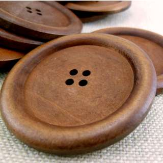 WB12037 - 50mm Big Round Wood Buttons, 50mm Big Round Wooden Buttons (6 in 1 set)  #craft