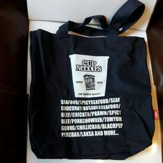全新日清食品 Nissin 合味道環保袋 布袋 購物袋Re-cycle