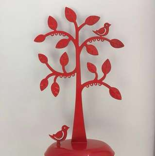 Red Tree Earring Stand