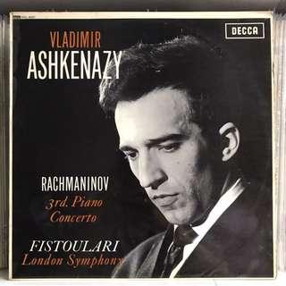 Rachmaninov Piano Concerto 3 Ashkenazy DECCA SXL 6057