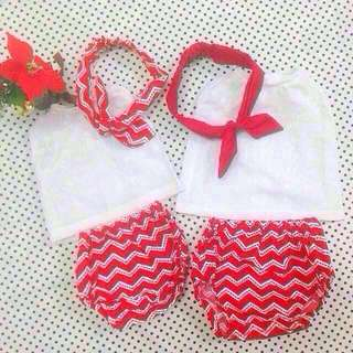 🎄✨‼️SALE‼️ RILEY BABY GIRL'S BLOOMER SET for (nb - 6m & 6m - 1 y/o)