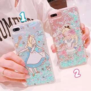 《預購》蘋果手機-愛麗絲夢遊仙境alice流沙手機殼-iphone6.iphone7.iphone8.iphoneX