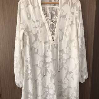H&M White Beach Cover-Up