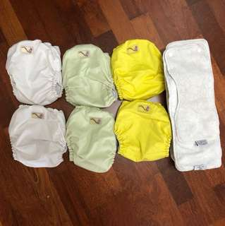 6 x Rumparooz Cloth Diapers buttons with 6r soaker