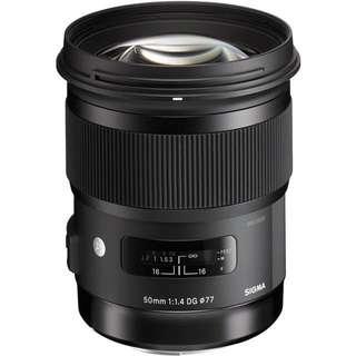 sigma 50mm 1.4 art Nikon mount