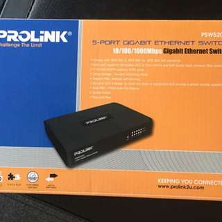PROLINK 5-Port Gigabit Ethernet Switch