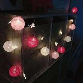 🚚 現貨🎄LED彩燈 粉色款 彩球/燈串/夜燈 雜貨 居家生活 裝飾品 交換禮物