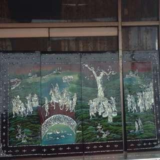 Lukisan kayu kerang