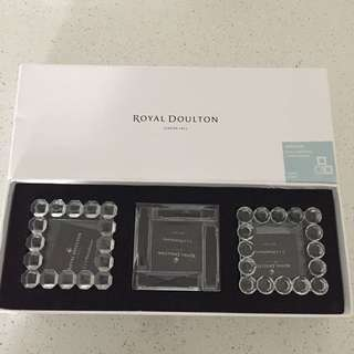 Royal Doulton crystal frames x3