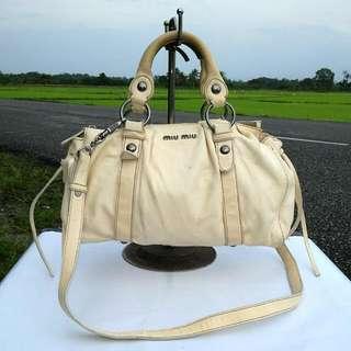 MIU MIU 2 Way Leather Bag