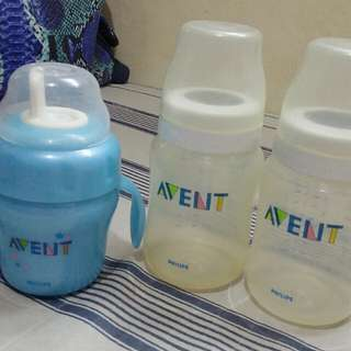 Avent 9oz Bottle & 1Free