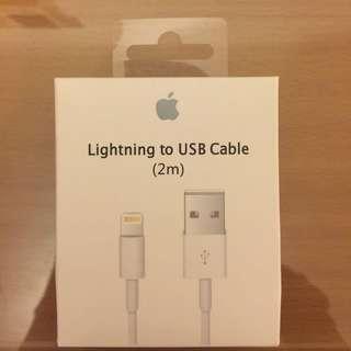 🚚 iPhone蘋果原廠2m傳輸線充電線