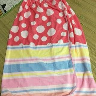 Wrap-around bath towel