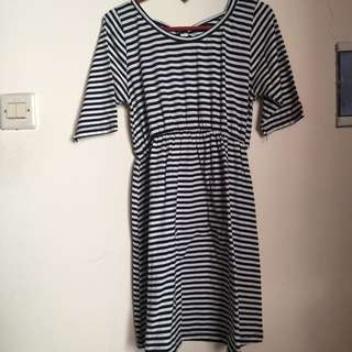 [PRELOVED] Dress/atasan stripe
