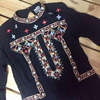 ASOS Beaded Sheer Shirt