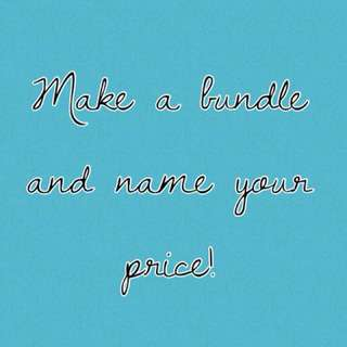 Make a bundle and name your price. All must go!