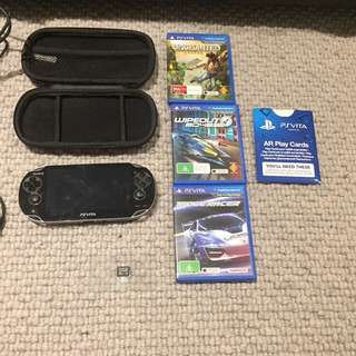 PSVita + Games, Chargers and Starting Kit