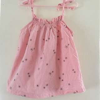 Casual Strap Pink Dress