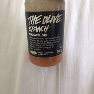Lush 'the olive branch' shower gel