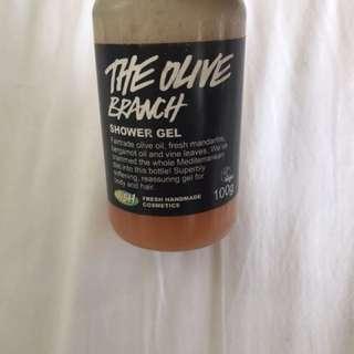 Lush 'the olive branch' shower gel