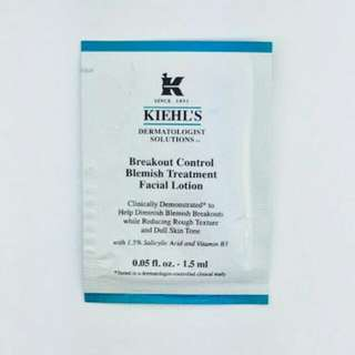 Kiehls breakout control sample