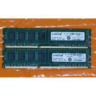 Crucial ddr3 1600mhz, CL 11 8gb kit (4gb x2)