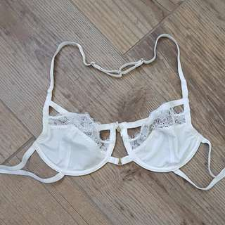 Gooseberry Intimates White Lace Cage Bra