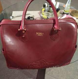 Bonia bag red